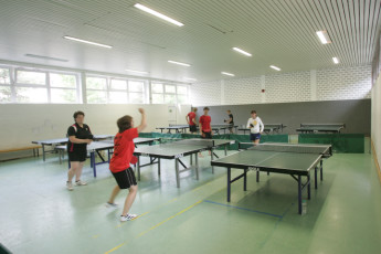 Sellin : People Playing Table Tennis in Sellin Hostel, Germany