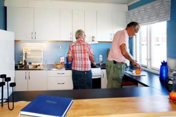 Bunge/Fårösund : Kitchen in Bunge/Farosund Hostel, Sweden
