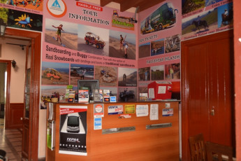 Ica - Desert Nights : Reception Desk in Ica - Desert Nights Hostel, Peru