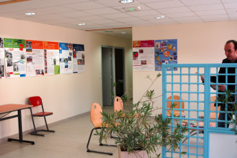 Troyes-Rosières : Lounge in the Troyes-Rosieres hostel in France