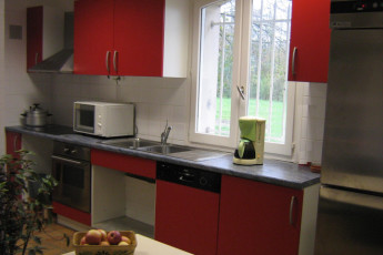 Troyes-Rosières : Kitchen in the Troyes-Rosieres hostel in France