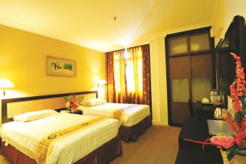 Melaka - Hallmark Hotel Leisure : Deluxe Twin Bedroom in Melaka - Hallmark Hotel Leisure Hostel, Malaysia