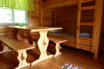 Savonlinna - Linnansaari huts : Hut interior at the Savonlinna - Linnansaari huts hostel in Finland