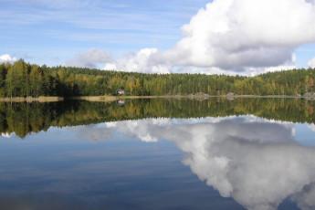 Savonlinna - Linnansaari huts : Lake near the Savonlinna - Linnansaari huts hostel in Finland
