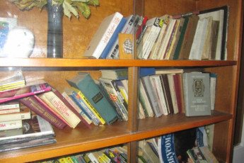 Kiev - Eurohostel : Library in Kiev - Eurohostel, Ukraine