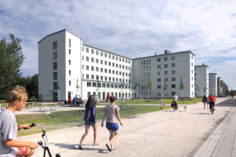 Prora mit Zeltplatz : Exterior View of Prora - Youth Hostel Prora, Germany
