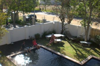 Stellenbosch - Banghoek Place : Pool and Garden Area in Stellenbosch - Banghoek Place Hostel, South Africa