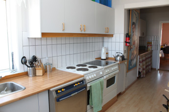 Siglufjördur : Kitchen in Siglufjorour Hostel, Iceland