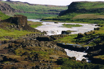 Kópasker : Waterfall in Landscape Surrounding Kopasker Hostel, Iceland