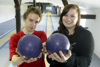 Dahmen : Dahmen hostel in Germany bowling
