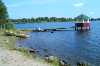 Kemijärvi - Hostel Kemijärvi : Kemijarvi hostel in Finland lake