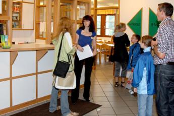 Pforzheim - Dillweißenstein : Pforzheim - Dillweissenstein Hostel guests in reception area
