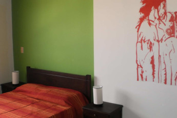 El Viajero Hostels San Andres : Private double room at the El Viajero Hostels San Andres in Columbia