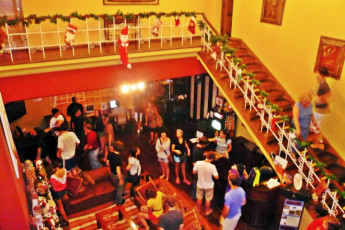 Lima - Hostelling International Lima : Guest socialising in the lounge of the Lima - Hostelling International hostel in Lima Peru