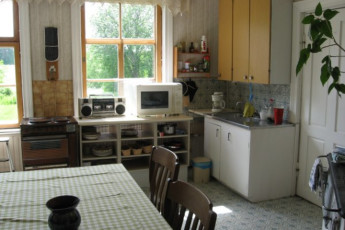 Rautalampi - Korholan Kartano : Kitchen in the Rautalampi - Korholan Kartano Hostel in Finland