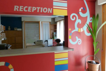 Turin - Torino : Reception Desk in Turin - Turin Hostel, Italy
