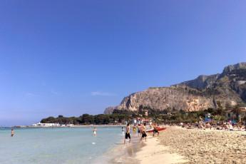 Palermo - Baia del Corallo : View of Local Beach from Palermo - Coral Bay, Italy
