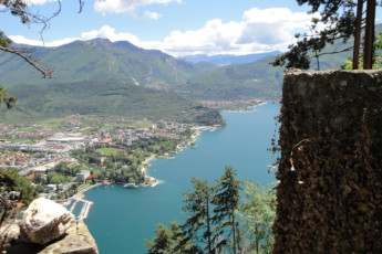 Riva del Garda - Benacus : Panoramic View of Lake and Landscape Surrounding Riva del Garda - Benacus, Italy