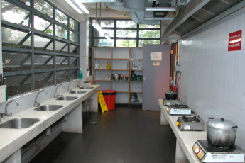 YHA Hong Kong - Bradbury Jockey Club : Patio im Youth Hostel Association Hong Kong - Bradbury Jockey Club, Hong Kong