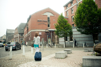 Liège - Georges Simenon Youth Hostel : Exterior to the Liege - Georges Simenon Youth Hostel in Belgium