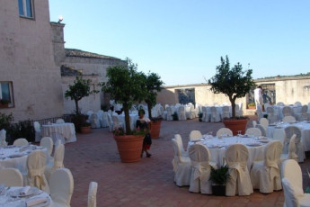 Matera - Le Monacelle : Outside Dining Area for Special Events at Matera - Le Monacelle Hostel, Italy