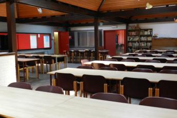 Bokrijk/Genk : Dining room in the Bokrijk/Genk hostel in Belgium
