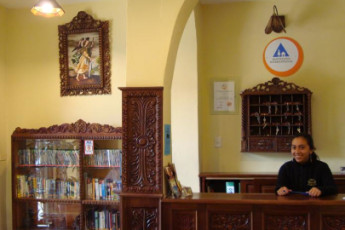 Cusco - Hostal Mallqui : Reception Area in Cusco - Hostal Mallqui, Peru