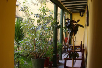Cusco - Hostal Mallqui : Patio and Garden Area in Cusco - Hostal Mallqui, Peru
