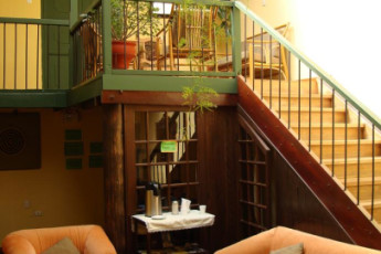 Cusco - Hostal Mallqui : Lobby in Cusco - Hostal Mallqui, Peru