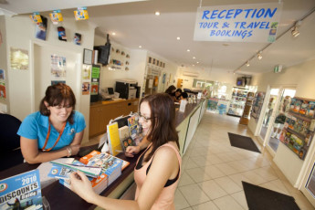 Cairns - Cairns Central YHA : Reception of the Cairns - Cairns Central hostel in Australia