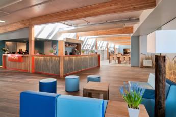 Stayokay Egmond : Reception Area in Stayokay Egmond Hostel, Netherlands
