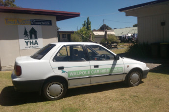 Walpole YHA : Car hire at the Walpole Hostel in Australia