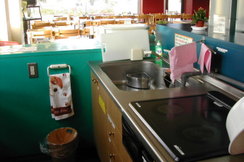 Osaka - Osaka International YH : Kitchen Area in Osaka - Osaka International Youth Hostel, Japan