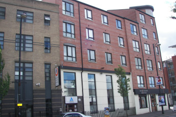 Belfast International : Exterior View of Belfast International Hostel, Northern Ireland