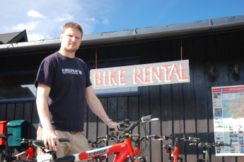 Voss : Bike Rental Area in Voss Hostel, Norway