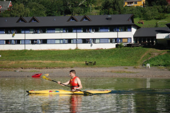 Voss : Canoeing in the Lake by Voss Hostel, Norway