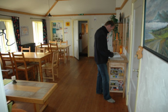 Ytra Lón : Kitchen and Dining Area in Ytra Lon Hostel, Iceland