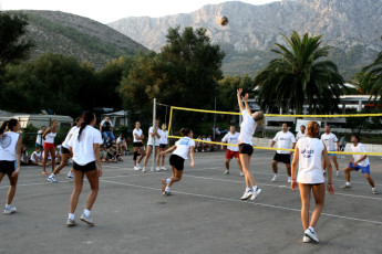 Zaostrog - Hostel 'Eklata' : Women Playing Volleyball at Zaostrog - Hostel Eklata, Croatia
