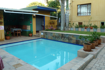 Durban - Gibela Backpackers Lodge : Pool Area at Durban - Gibela Backpackers Lodge Hostel, South Africa