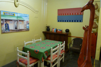 Durban - Gibela Backpackers Lodge : Dining Area in Durban - Gibela Backpackers Lodge Hostel, South Africa