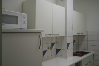 Steyr : kitchen at the Steyr in Austria hostel