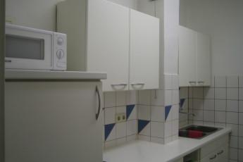 Steyr : La cocina en el Steyr en Austria hostal