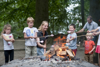 Stayokay Gorssel : Roasting Marshmallows Outside On An Open Fire at Stayokay Gorssel Hostel, Netherlands
