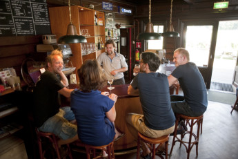 Stayokay Gorssel : People Relaxing in the Bar Area at Stayokay Gorssel Hostel, Netherlands