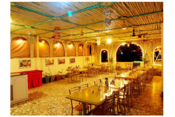 Hotel Golden City & Time Travel : Dining Area in Payal Hotel - Jaisalmer Hostel, India