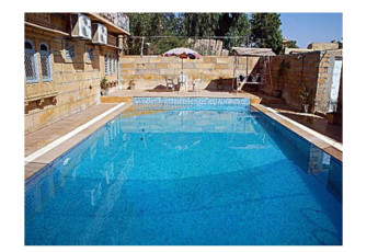 Hotel Golden City & Time Travel : Pool Area at Payal Hotel - Jaisalmer Hostel, India