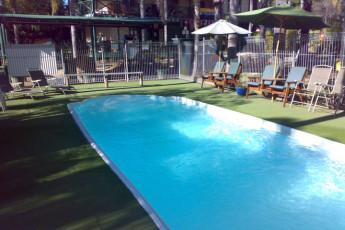 Batemans Bay YHA : Swimming pool in the Batemans Bay YHA in Australia