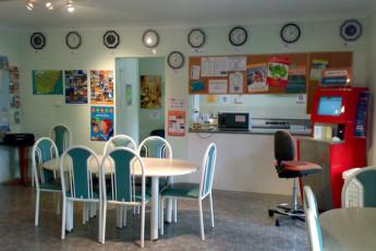 Batemans Bay YHA : Dining area in the Batemans Bay YHA in Australia