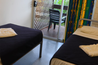 Airlie Beach YHA : Private twin room in the Airlie Beach YHA in australia