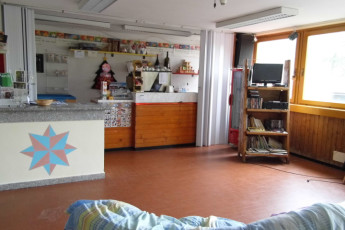 Abetone - Renzo Bizzarri : Cafe and Lounge Area in Abetone - Renzo Bizzarri Hostel, Italy